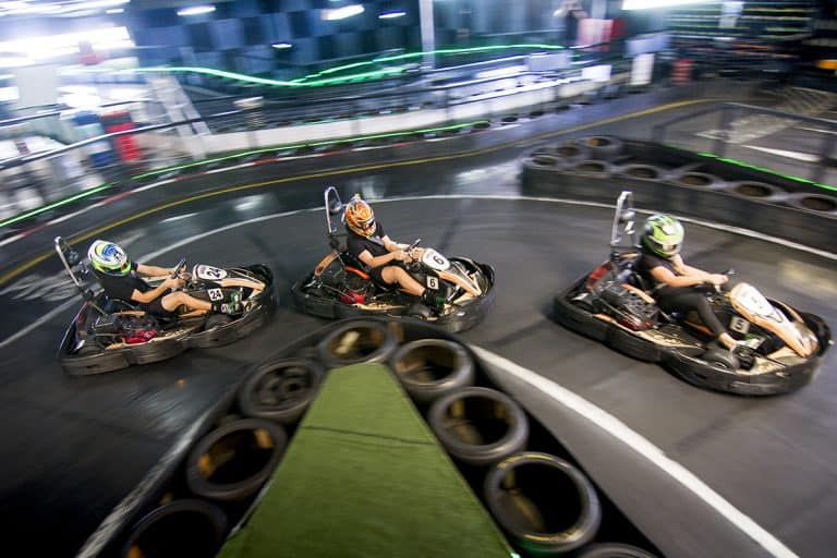 Racing on the Go Karting Gold Coast track