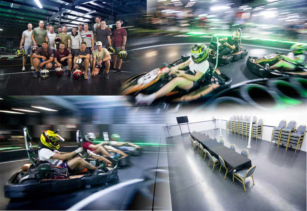 Corporate go karting functions on the Gold Coast