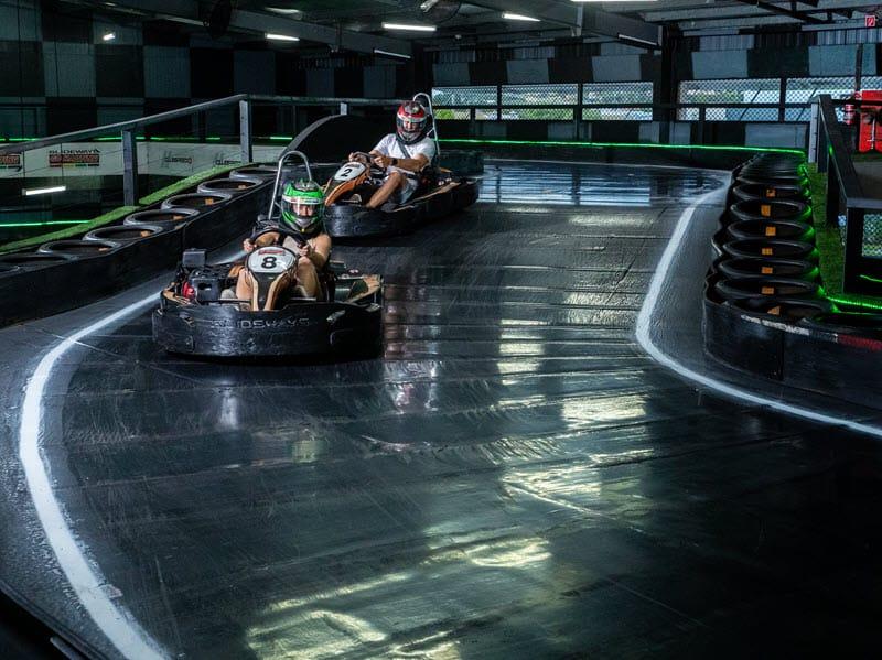 Racing at Go Karting gold Coast