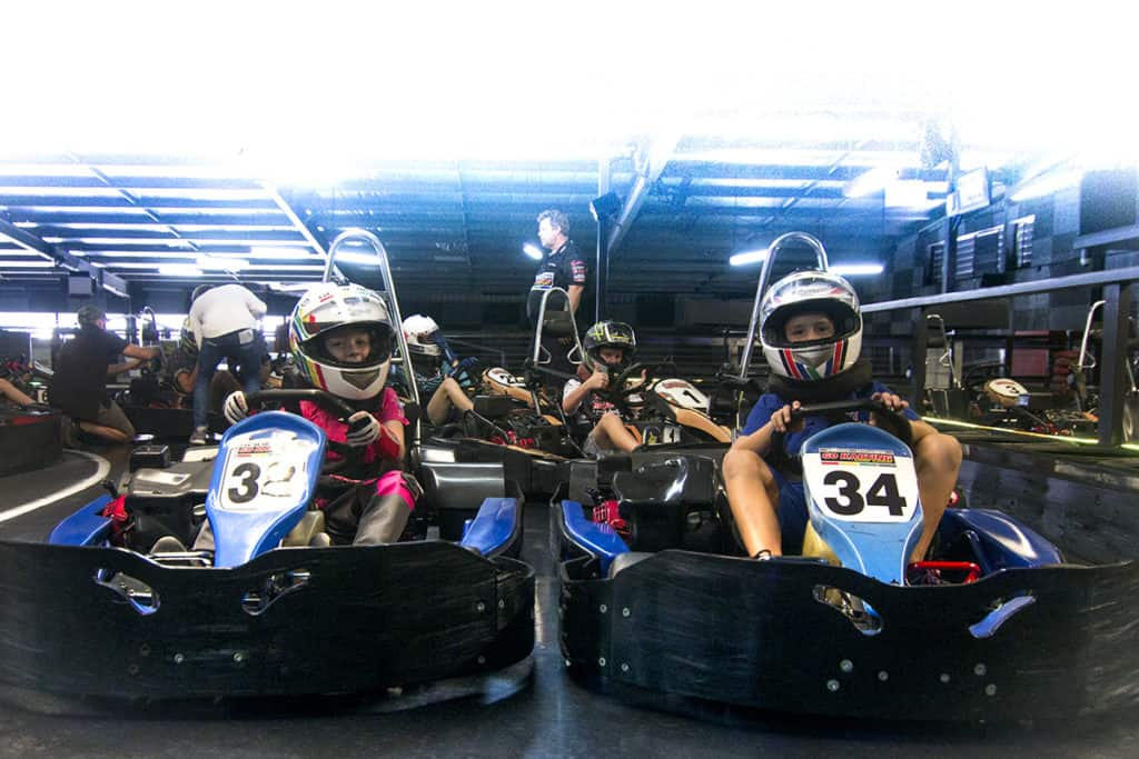 Kids go karting on the Gold Coast