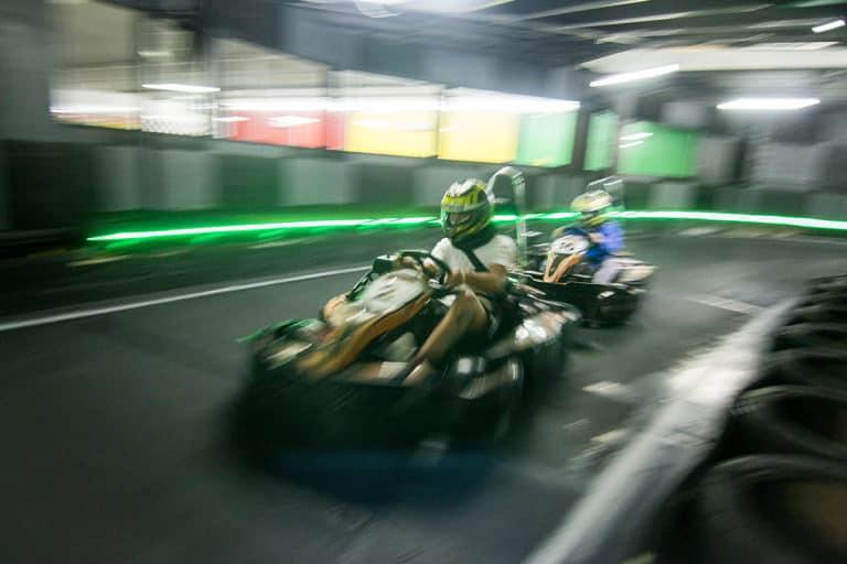 Tuesday night go kart racing